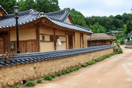 Hanok Village of Yeongju of North Gyeongsang Imagens - 120375885