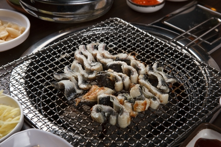 eel grilled on grill
