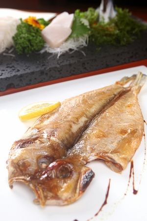 grilled sea bream on plate