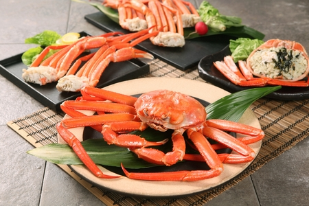 steamed king crab on plate