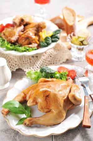 roast duck on plate