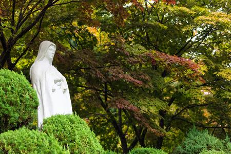 catholic Statue Baeron Holy Ground Stockfoto - 122971092