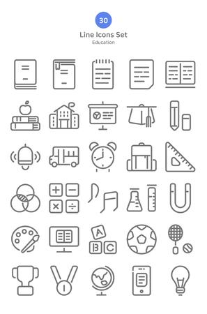 Outline style education icons set. 版權商用圖片 - 122134536
