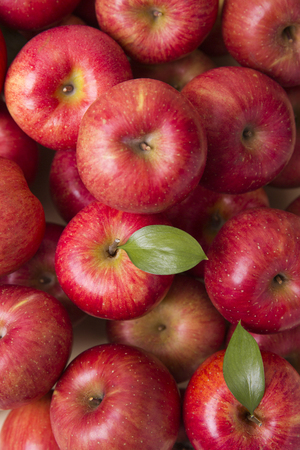 Healthy and weight loss concept, Red apple whole and half piece 053