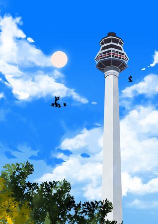 Wonderful moments of tourist attractions  illustration Reklamní fotografie