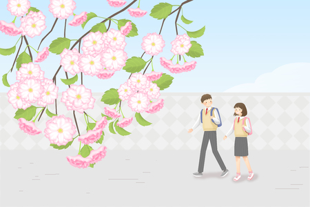 Go on a Spring Picnic, having a good time in spring landscape 스톡 콘텐츠 - 122835759