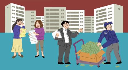 Corruption bribe concept illustration 006 Stockfoto - 122836243