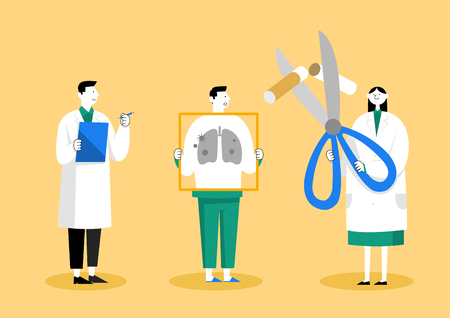 Medical check-up, health care concept vector illustration 010