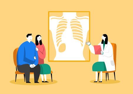 Medical check-up, health care concept vector illustration 002 Illustration