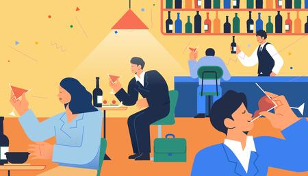 Vida diaria y gasto, actividades de consumo concepto ilustración vectorial 012
