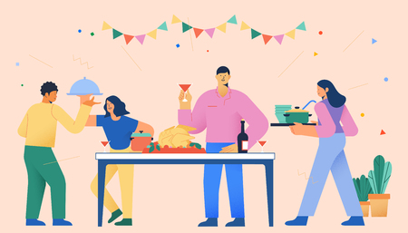 Daily life and spending, consumption activities concept vector illustration 007
