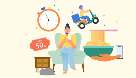 Daily life and spending, consumption activities concept vector illustration 001 Illustration