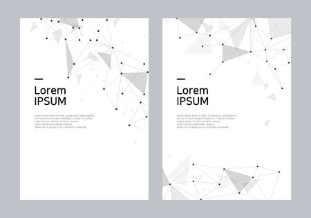 Geometric brochure cover design set