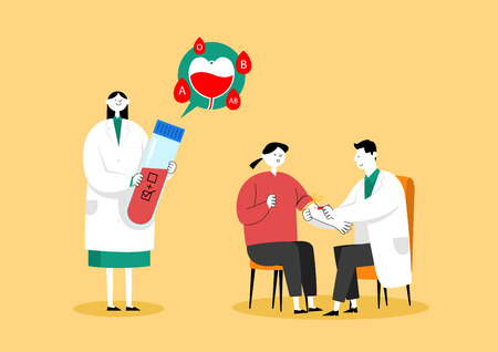 Medical check-up, health care concept vector illustration 003