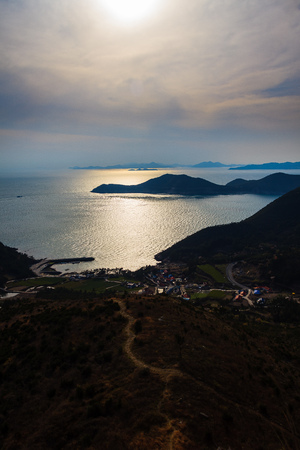 the fall of the beautiful Cheongsan Island sea Zdjęcie Seryjne