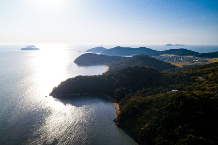 Beautiful island landscape with blue ocean Zdjęcie Seryjne