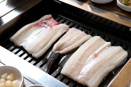 eel being grilled on grill Reklamní fotografie