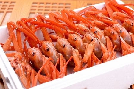 snow crab in styrofoam box