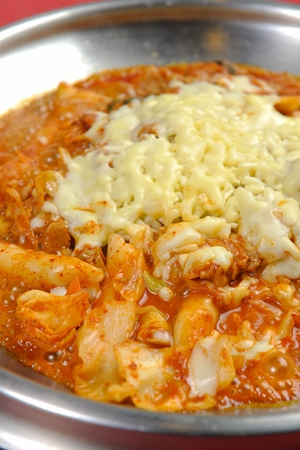 spicy stir-fried chicken with cheese