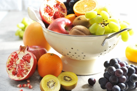 assorted fruits platter with various fruits