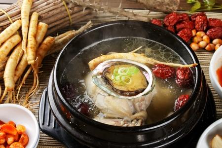 Samgyetang, Korean ginseng soup with abalone and jujube