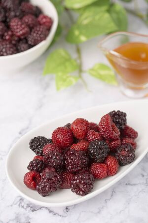 Assorted fresh berries, healthy lifestyle