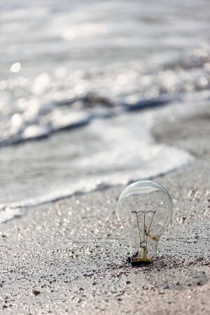 The sea, the light bulb and the thought.