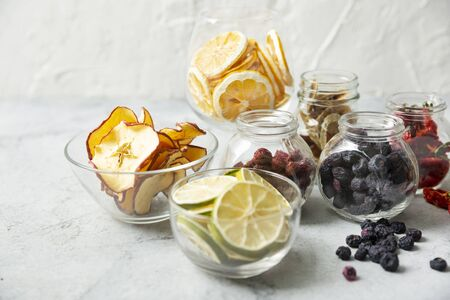 Various dried fruits, healthy lifestyle 写真素材