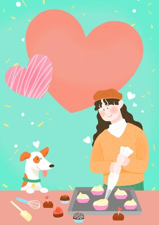 Spring is season of love, vector design concept for loving 스톡 콘텐츠 - 125009775