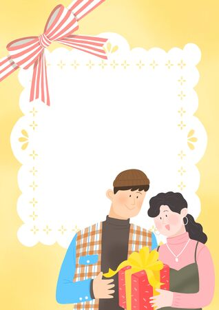 Spring is season of love, vector design Banco de Imagens