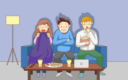 People in various lifestyles illustration in cartoon style Ilustração Vetorial