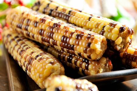 Corn with lots of black colors mixed