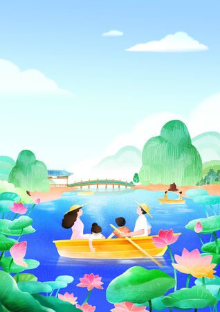 Summer festival. Summer outdoor scene