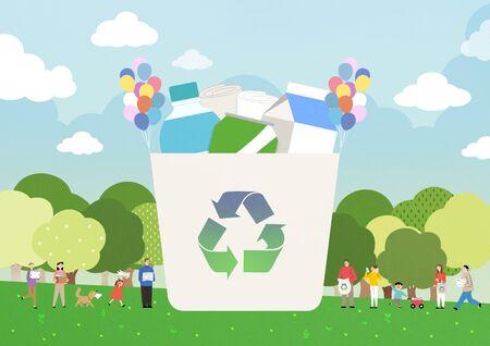 Ecology concept, save the world illustration Stok Fotoğraf