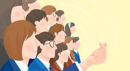 Group of people background illustration 스톡 콘텐츠 - 128419422