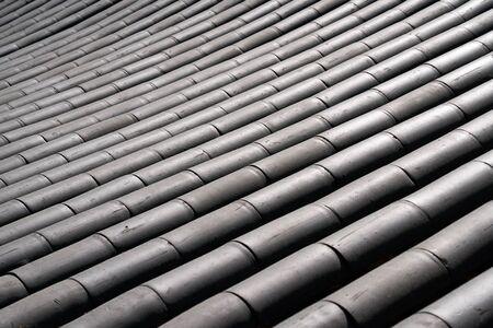 Korean Traditional tiled roof Imagens