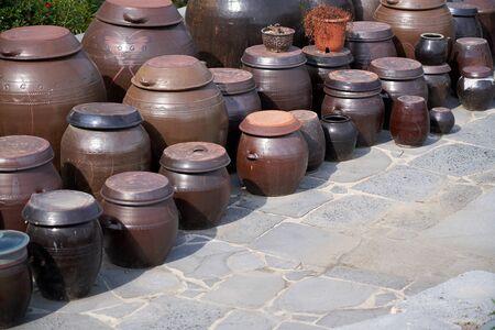 Jangdokdae, Korean traditional platform for crocks of sauces