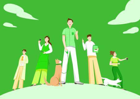 Satz von Vielfalt Beruf Beruf Menschen Konzept Illustration