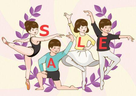 Sale promotion illustration  イラスト・ベクター素材