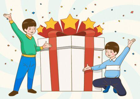 Children's day concept illustration