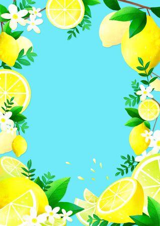 Concept of summer pattern design illustration