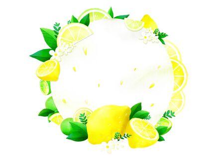 lemon, Concept of summer pattern design illustration
