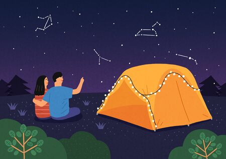 Happy summer travel illustration 005