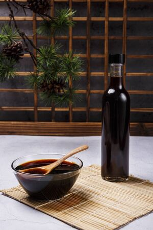 Concept of Korean traditional sauces, soy sauce, soybean paste and red pepper paste 056