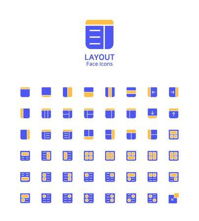 Modern thin line flat design icons set for website and app design Иллюстрация