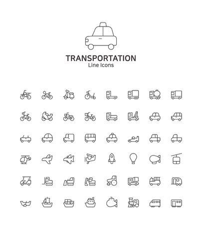 Modern thin line flat design icons set for website and app design Illusztráció