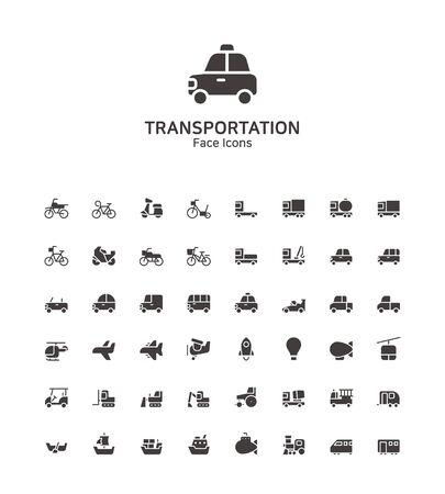Modern thin line flat design icons set for website and app design 097 Illusztráció