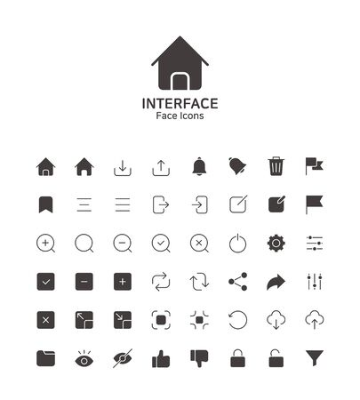 Modern thin line flat design icons set for website and app design 089