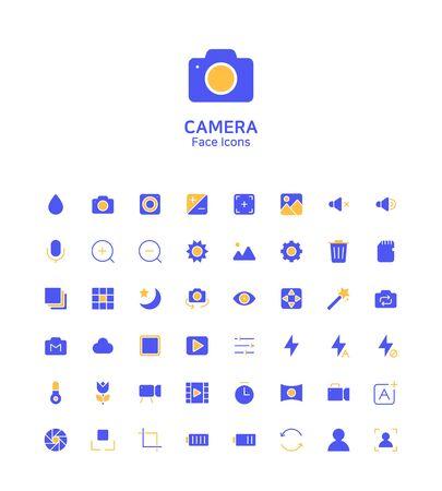 Modern thin line flat design icons set for website and app design 向量圖像