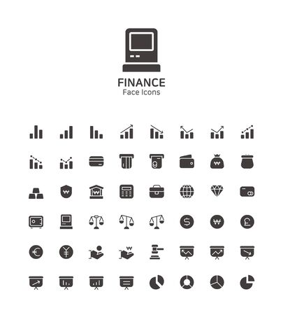 Modern thin line flat design icons set for website and app design Illusztráció